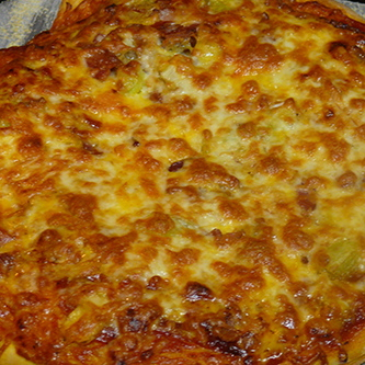 BBQ Bacon and Leek Pizza