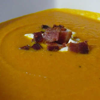 Bring on the Fall! Carrot and Turnip Soup and a Focaccia Panini with Turkey, Brie, and Fig Spread