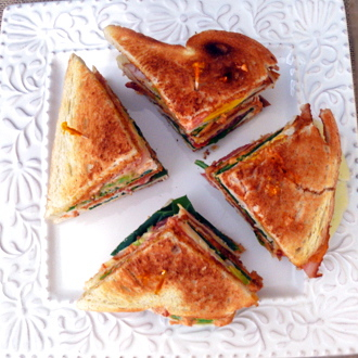 Jersey Meets California in this Foolproof Club Sandwich w/ Chipotle Aioli