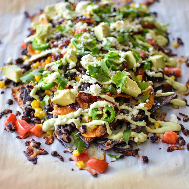 Loaded Tex-Mex Nachos with Sweet Potato Chips