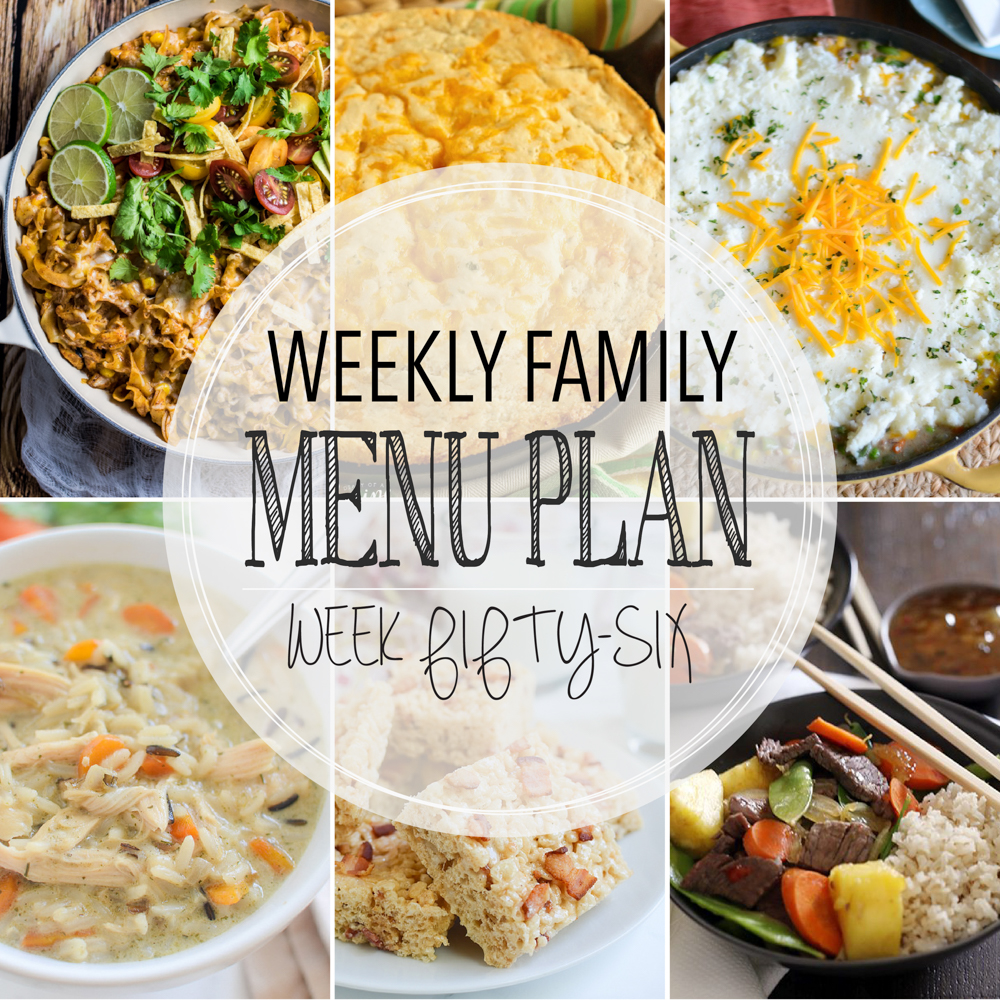 Weekly Family Menu Plan – Week Fifty-Six