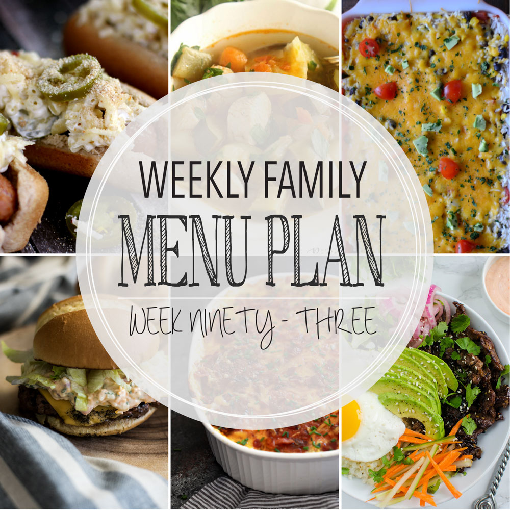Weekly Family Menu Plan – Week Ninety-Three