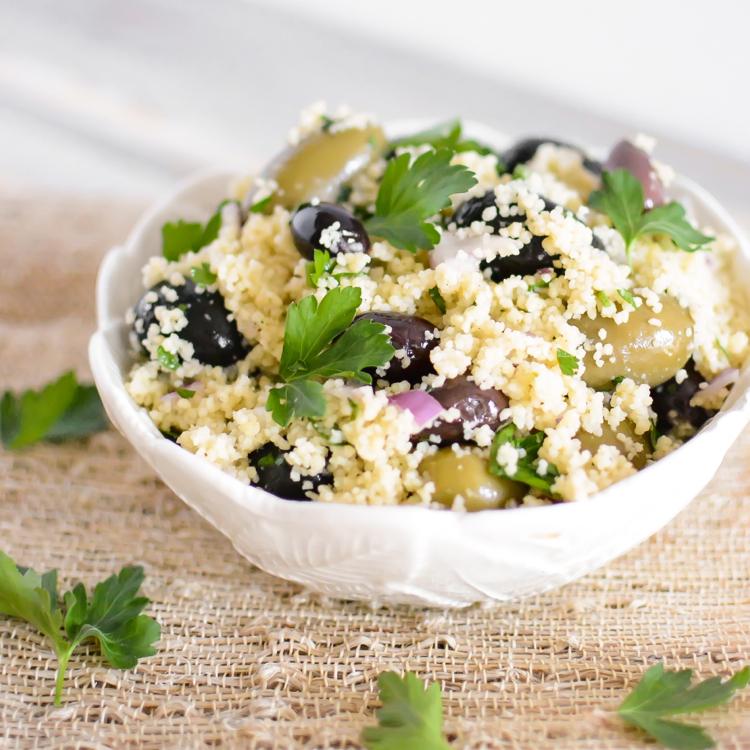 Mediterranean Olive Couscous Salad