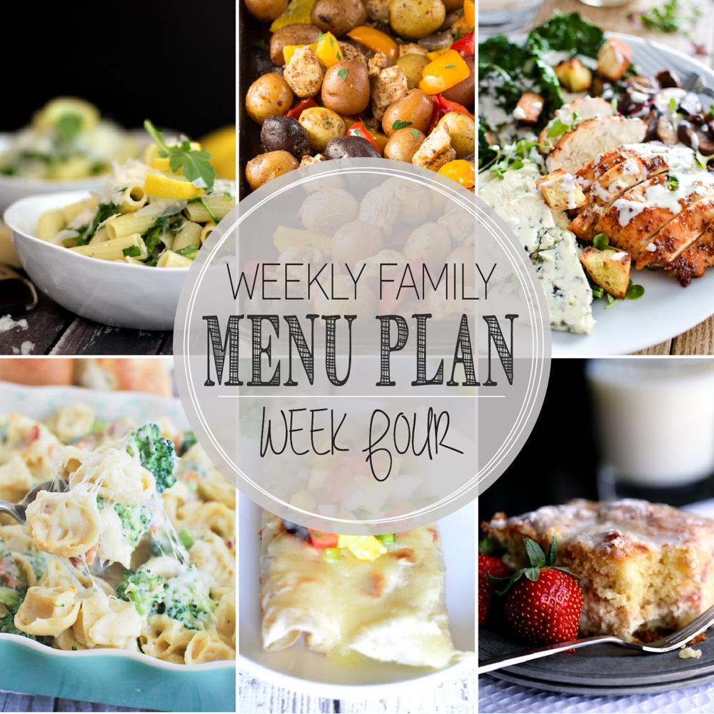 Weekly Family Menu Plan – Week Four