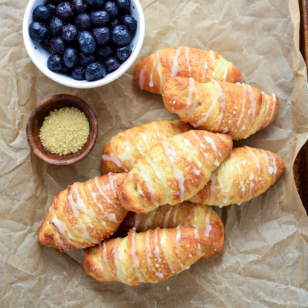 Blueberry Almond Crescent Rolls