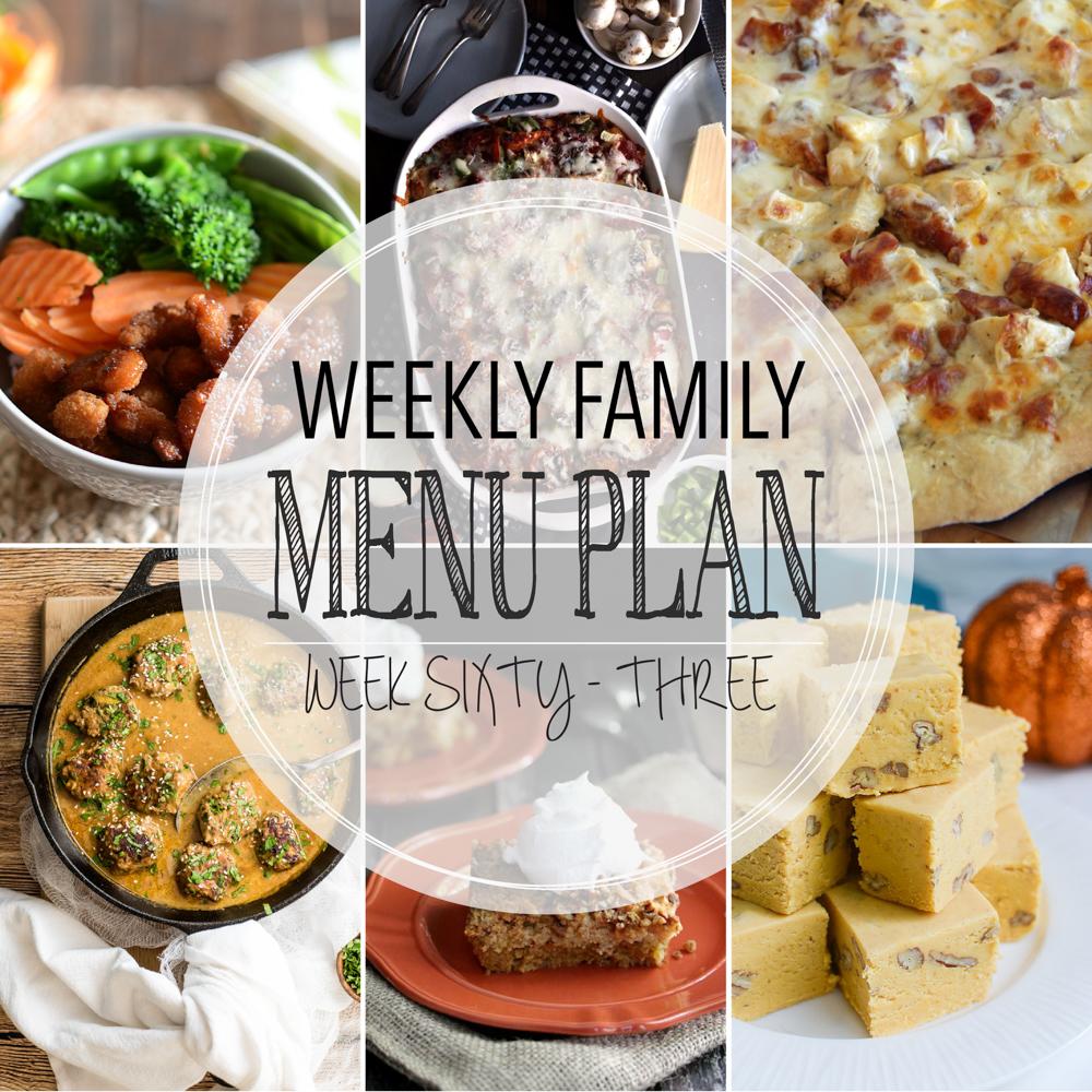 Weekly Family Menu Plan – Week Sixty-Three