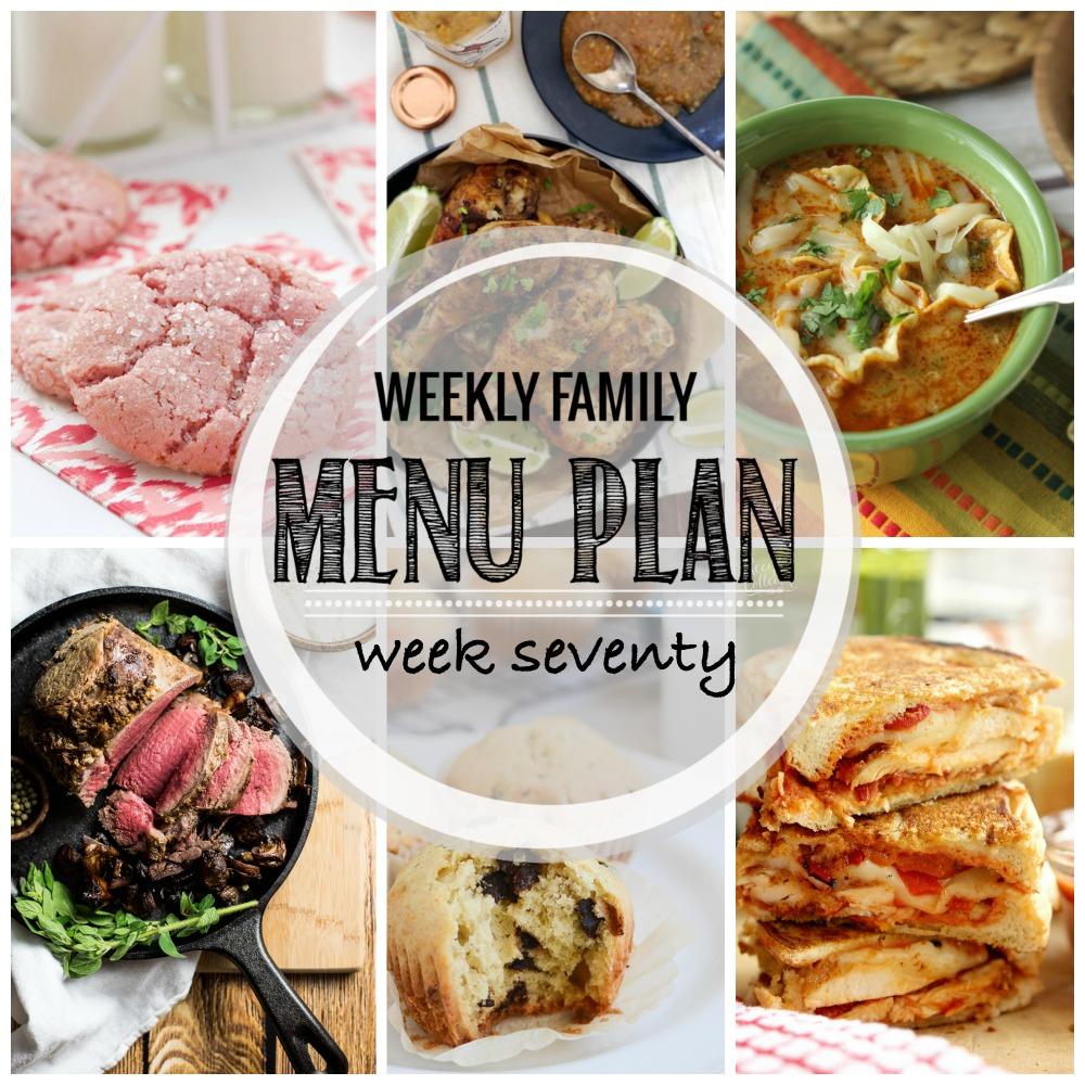Weekly Family Menu Plan – Week Seventy