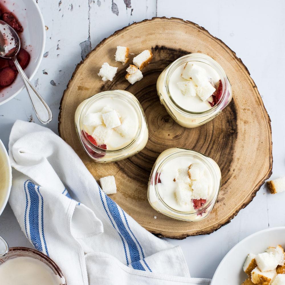 Strawberry and Cream Trifles