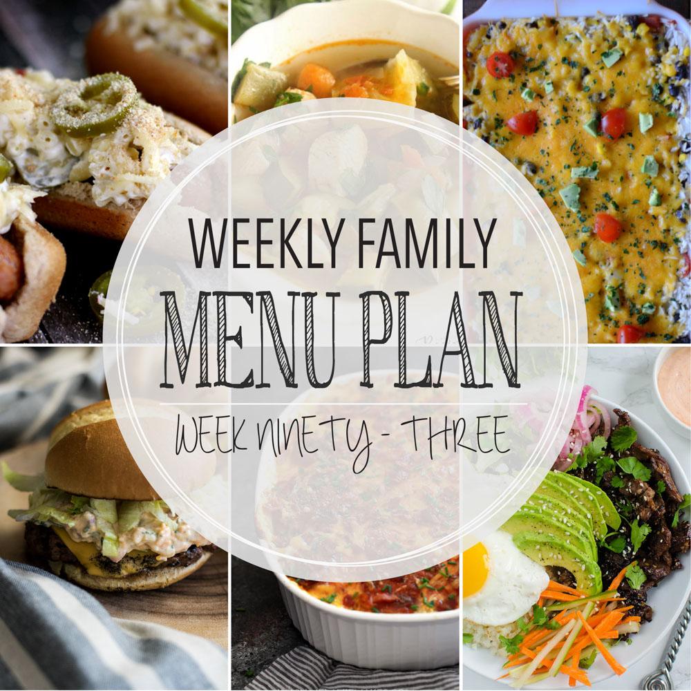 Weekly Family Menu Plan – Week Ninety-Three